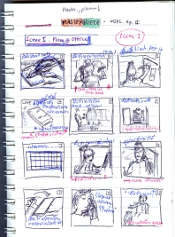 Simple storyboard / An example of simple story used for filmmaki