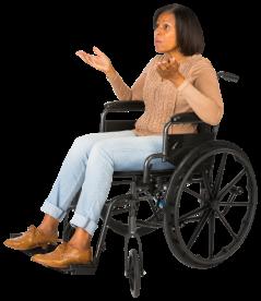 eLearningArt-Shannon_talking_in_a_wheelchair-467x540-61920